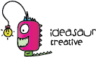 horizontal ideasaur logo