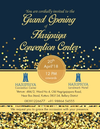 haripriya invitation card